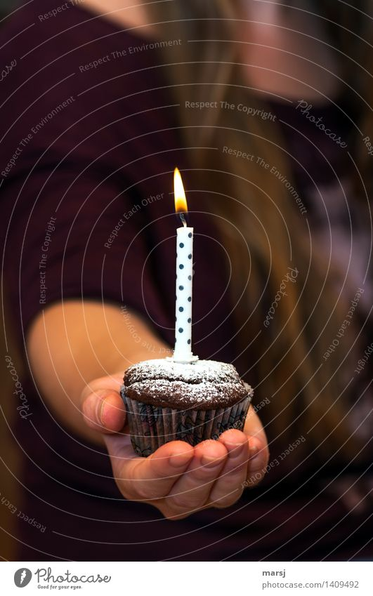 just for you! Harmonious Feasts & Celebrations Birthday Donate Candle Muffin Flame Illuminate Spotted Hand Gift Moody endowed Proffer Presentation Festive