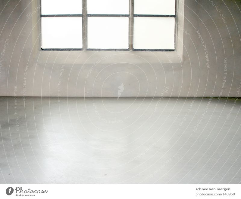 shine in the hut Window Gray Concrete Cologne White Rectangle Black Clean Bright House of worship Modern Floor covering Corner Room Smoothness Shadow Life