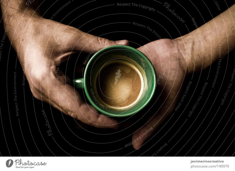 decaffeinated Coffee Drinking Veins Fingers Hand Brunch Shadow Arm Winter Cordoba Spain Concentrate Evening Green Foam Cup Living or residing Serene Circle