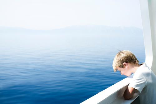 maximum sea view Vacation & Travel Tourism Trip Far-off places Freedom Cruise Summer Summer vacation Sun Ocean Island Waves Boy (child) Head 8 - 13 years Child