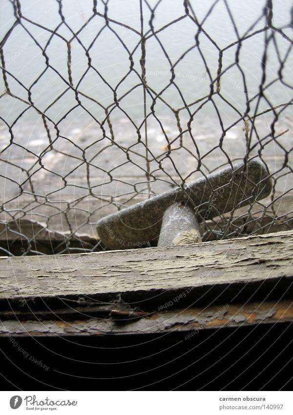 Spree view Window Grating Rust Splinter Fog Door handle Vantage point Industry