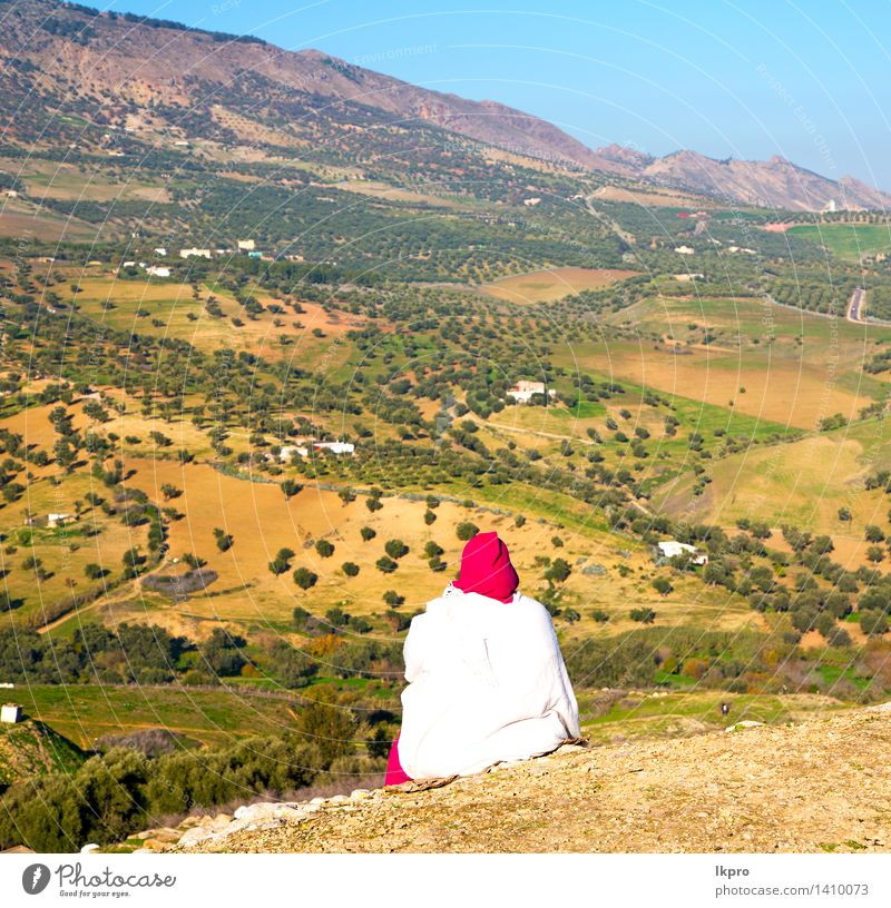 from high in the village morocco Vacation & Travel Tourism Mountain House (Residential Structure) Culture Landscape Plant Tree Village Small Town Palace Places
