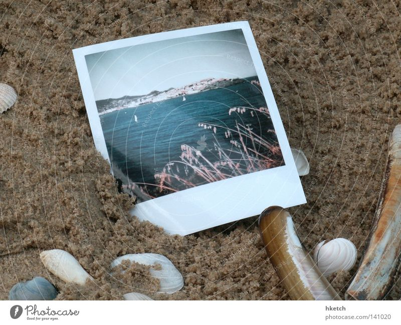 Unclear memory Vacation & Travel Beach Sand Ocean Sky Polaroid Summer Coast It's been a long time.