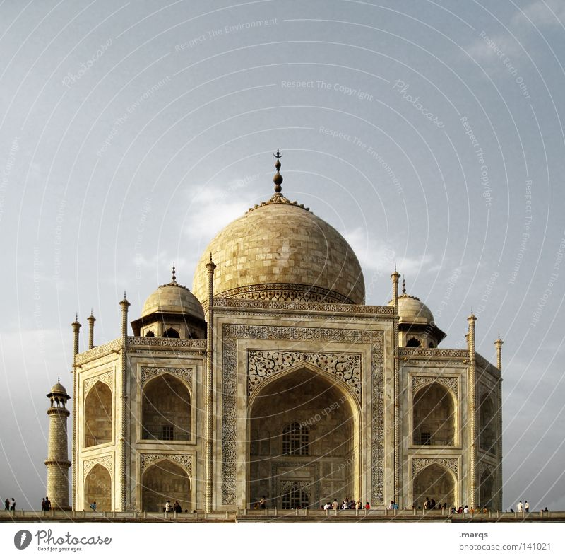 Taj Mahal Agra Grave Asia India Temple Marble Vacation & Travel Palace Might Religion and faith Manmade structures Hinduism Landmark World heritage Historic
