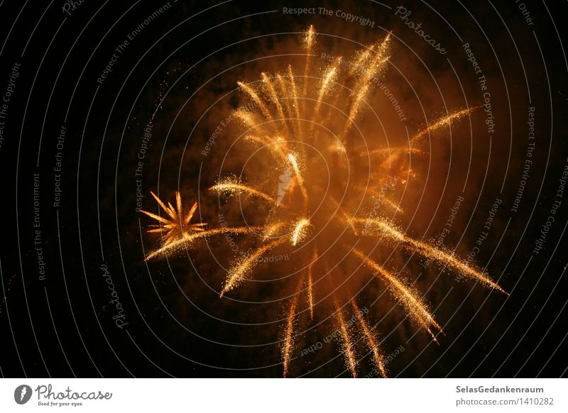 shower of gold Joy Happy Vacation & Travel Trip Event Feasts & Celebrations Fairs & Carnivals Warmth Gold Black Enthusiasm Romance Firecracker Night shot