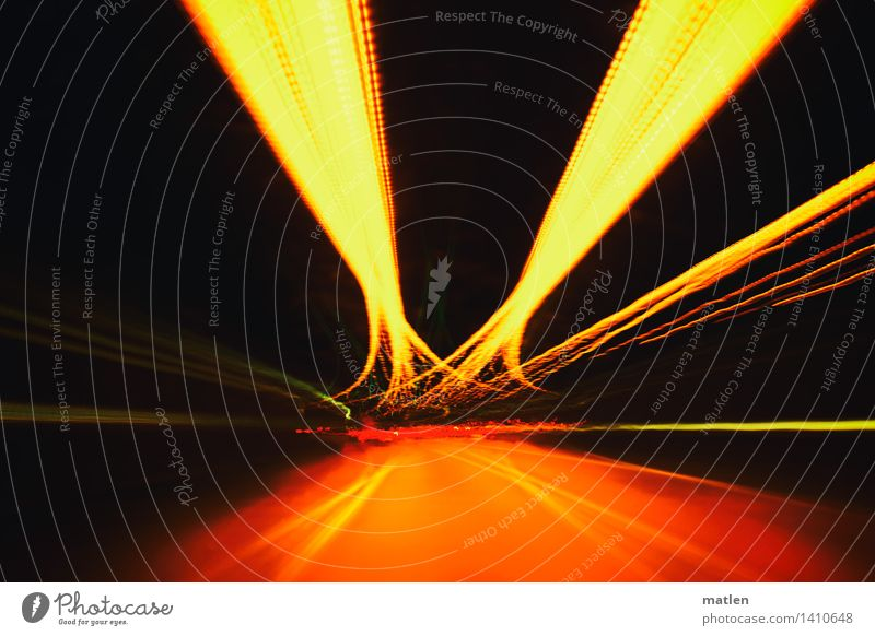 undertow Town Deserted Tunnel Transport Traffic infrastructure Road traffic Motoring Street Driving Trashy Brown Multicoloured Gold Green Curve Tilt