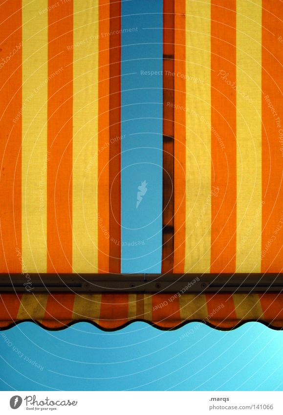 Sky Blue Old Vacation & Travel Summer Relaxation Yellow Warmth Garden Line Orange Flat (apartment) Leisure and hobbies Dirty Empty Stripe