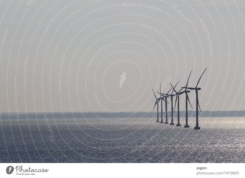 Nature Blue Water Environment Coast Gray Energy industry Air Wind Future Climate Clean Infinity Baltic Sea Wind energy plant Science & Research