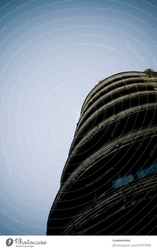 Old Sky Blue Dark Window Sadness Building Flat (apartment) Grief Circle Gloomy Round Tower Pipe Dusk Block