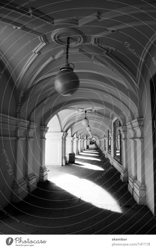 russian mall Black & white photo Exterior shot Deserted Day Light Shadow House (Residential Structure) Trade St. Petersburgh Russia Pedestrian precinct Tunnel