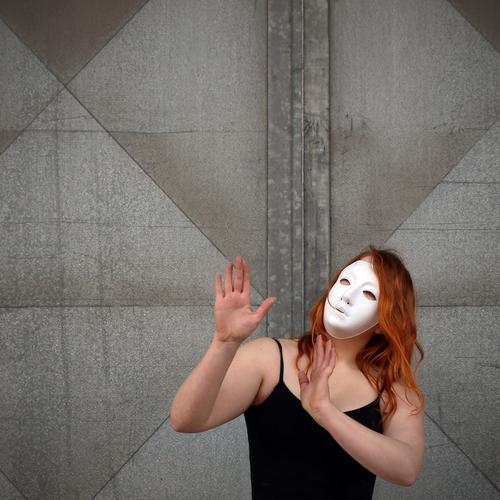 Human being Wall (building) Movement Feminine Wall (barrier) Art Moody Metal Dream Door Elegant Esthetic Dance Communicate Joie de vivre (Vitality) Change