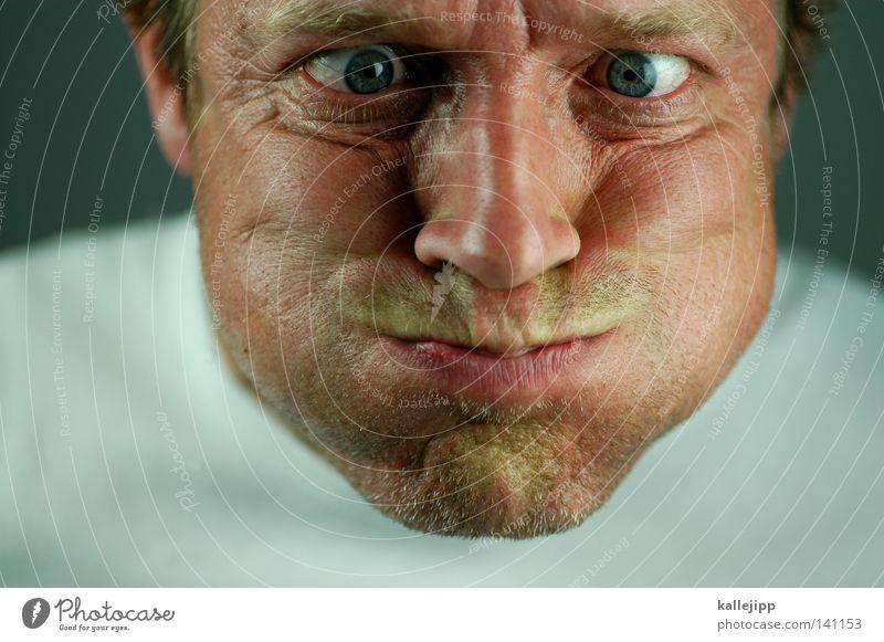 Human being Man Joy Face Eyes Air Eating Power Mouth Force Wrinkle Wrinkles Blow Breathe Effort Cheek