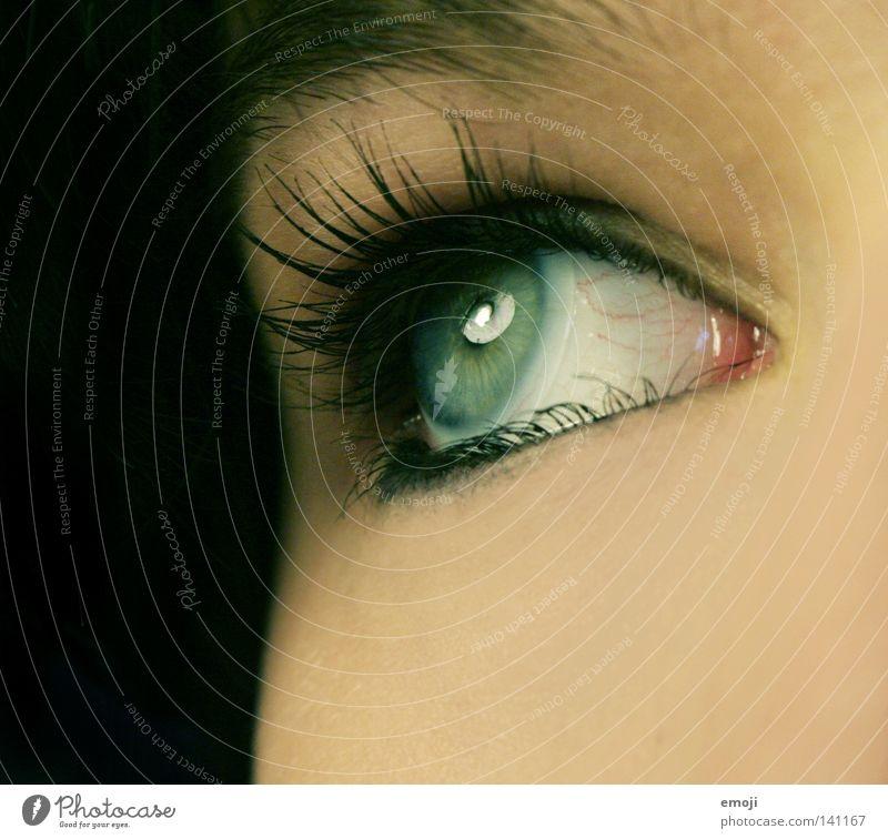 Green Beautiful Eyes Black Dark Feminine Lamp Lake Healthy Skin Open Round Near Make-up Reflection Cosmetics