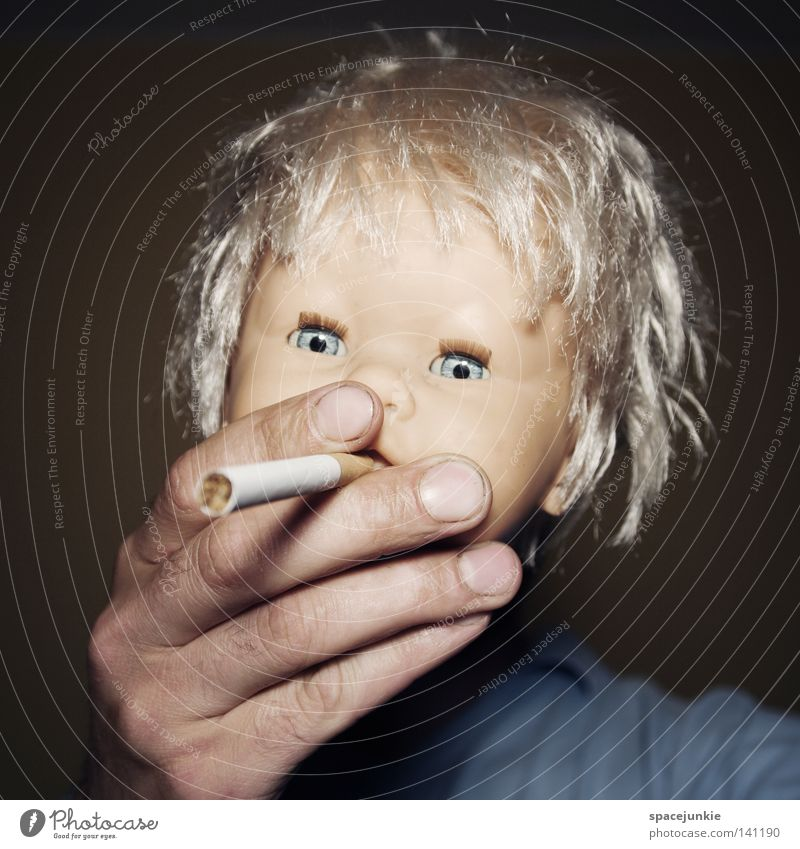 Blue Joy Eyes Hair and hairstyles Funny Blonde Fear Wild Fire Sweet Cute Threat Smoking Toys Creepy Tobacco products