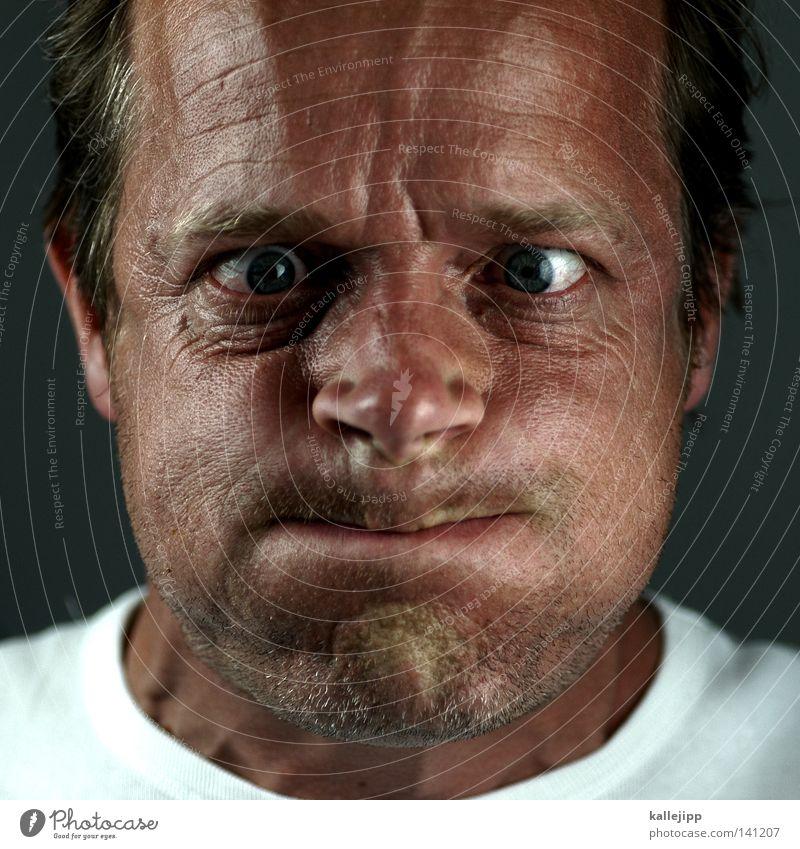 Human being Man Joy Face Eyes Air Mouth Force Wrinkles Blow Breathe Effort Cheek Grimace Print media Humor