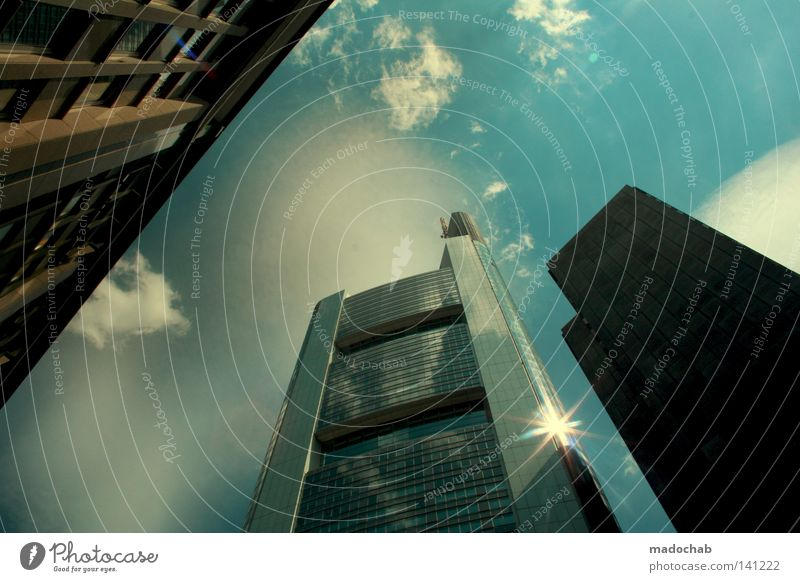 Sky Sun City Clouds Lamp Work and employment Above Movement Building Business Lighting Power Architecture Stars Glittering