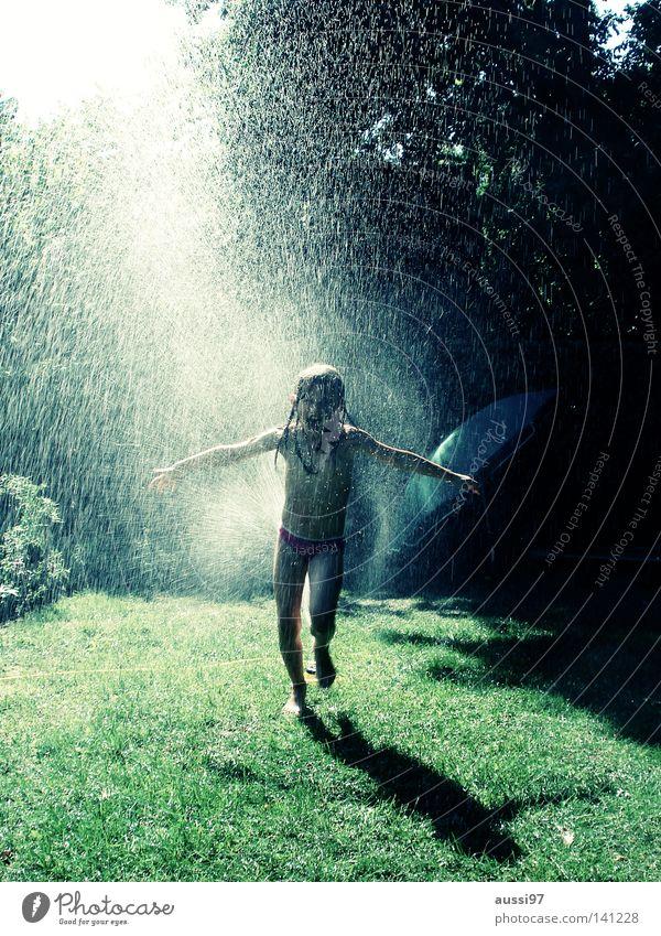 Child Sun Vacation & Travel Joy Playing Pure Summer vacation Garden hose Lawn sprinkler