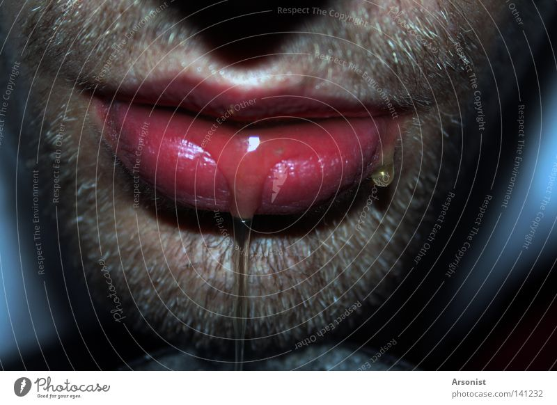 Human being Man Mouth Lips Near Fluid Lose Exposure