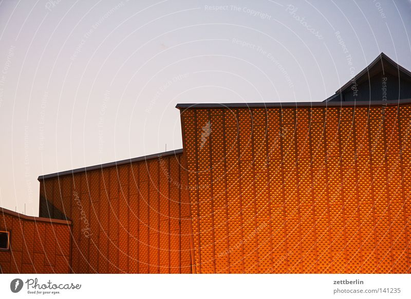 Philharmonie in the evening Berlin Berlin Philharmonic Culture Berlin culture forum Concert Event Modern Wall (building) Facade Swing Point Classification Sky