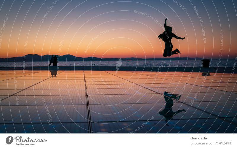 jump jump jump around :) Ocean Adriatic Sea Zadar Croatia Landmark Pozdrav sunce Movement Discover Feasts & Celebrations To enjoy Playing Jump Illuminate