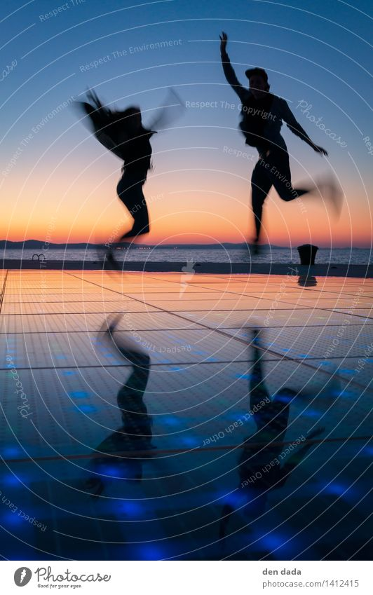 jump jump jump around :) Human being 2 Ocean Adriatic Sea Zadar Croatia Laughter Playing Jump Esthetic Athletic Exceptional Fantastic Happiness Happy Infinity