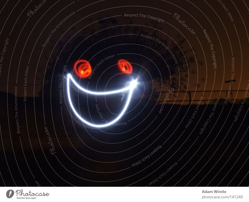 SMILE! Joy Face Dark Happy Night sky Smiling Exposure