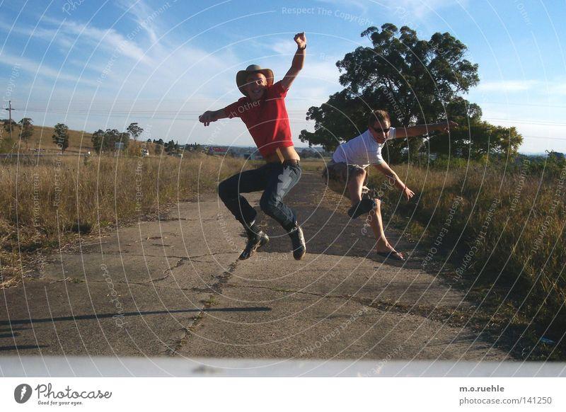 Joy Jump Air Friendship Wind Flying Free Trust Hover Australia Blue sky Go crazy