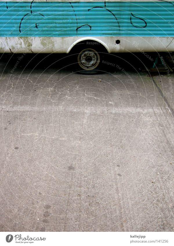 Blue Vacation & Travel Window Car Logistics Target Leisure and hobbies Stripe Brick Farm Mobility Drape Parking lot Vehicle Cyan Vintage car