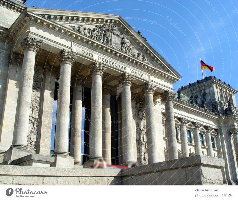 Berlin Architecture Column Politics and state Capital city Reichstag Portal