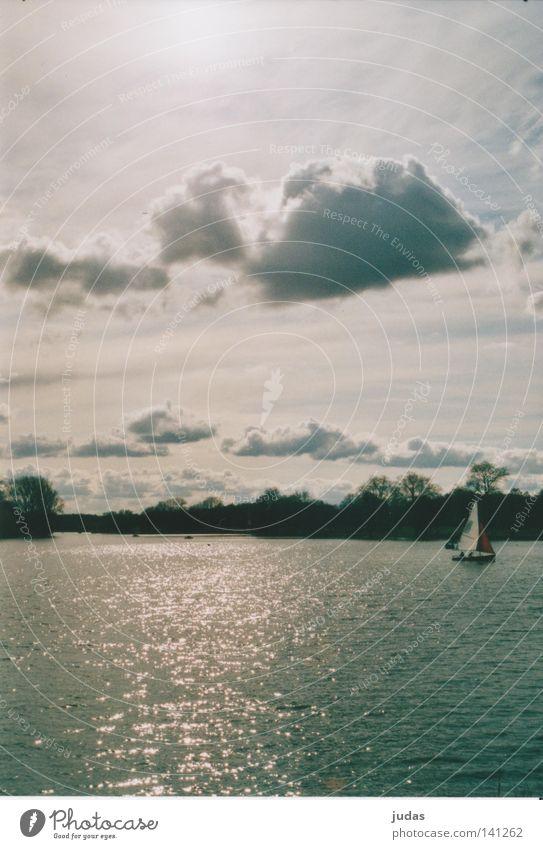 Clouds sail across the sea Sailboat Waves Watercraft Sailing Summer Lake Aa Coast