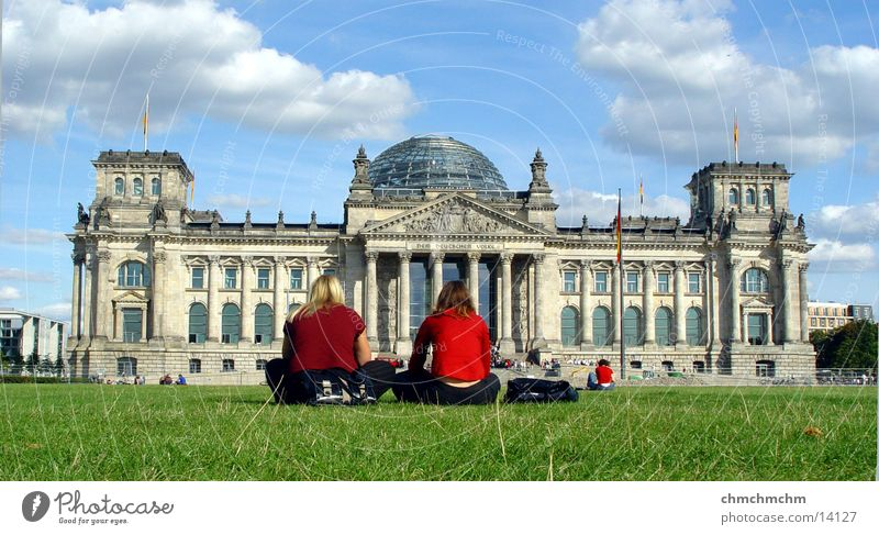 Woman Berlin Architecture Perspective Politics and state Reichstag