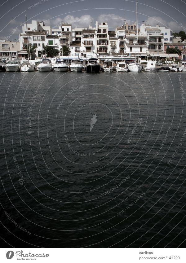 Ocean Beach Black Watercraft Coast Safety Protection Harbour Spain Storm Majorca Mole Drop anchor Balearic Islands Yacht harbour