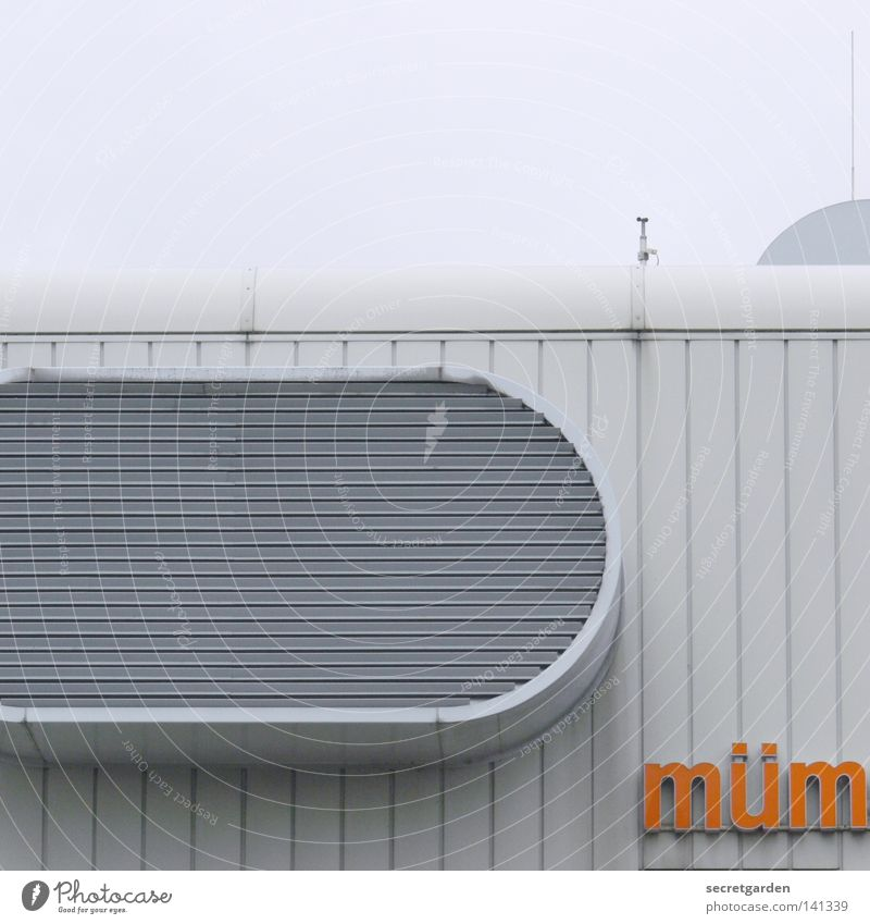 White Clouds House (Residential Structure) Window Wall (building) Architecture Building Weather Orange Modern Characters Roof Round Letters (alphabet) Typography Word