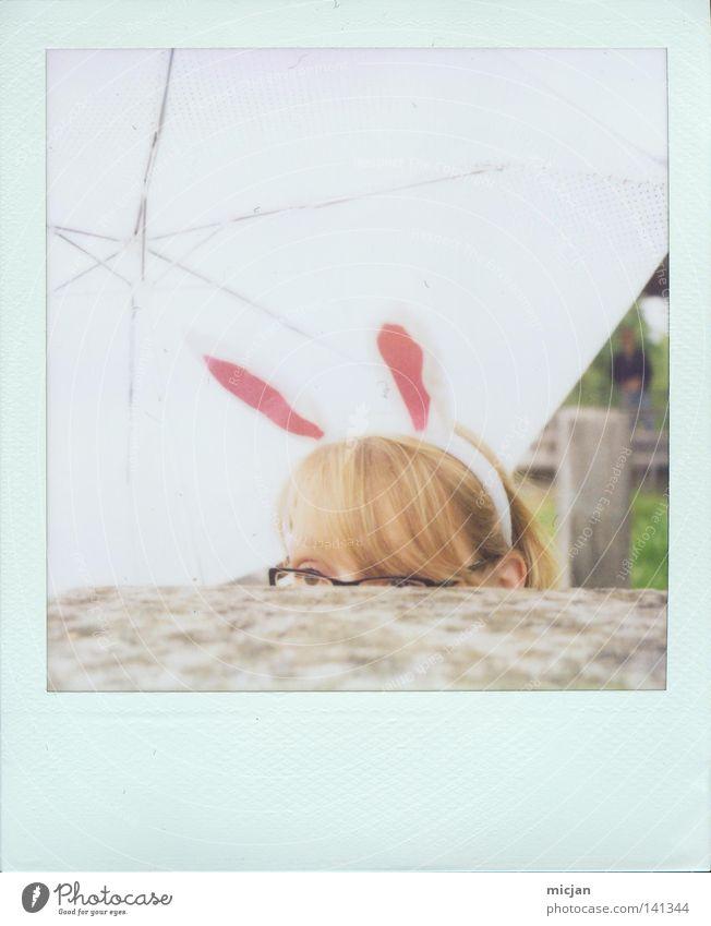 Woman White Joy Animal Colour Feminine Hair and hairstyles Polaroid Fear Blonde Sweet Eyeglasses Easter Vantage point Ear Umbrella
