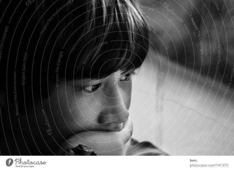 Stay here. Future Past Present Day Time Thought Life Portrait photograph Boy (child) Child Face Shadow Emotions be Youth (Young adults)