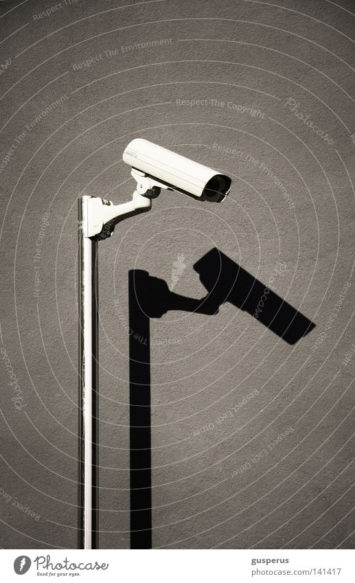 see and be seen Surveillance Insecure Police state Detail Might Safety Camera disappear Shadow Simple Clarity orwell 1984 stock it the glass man or so