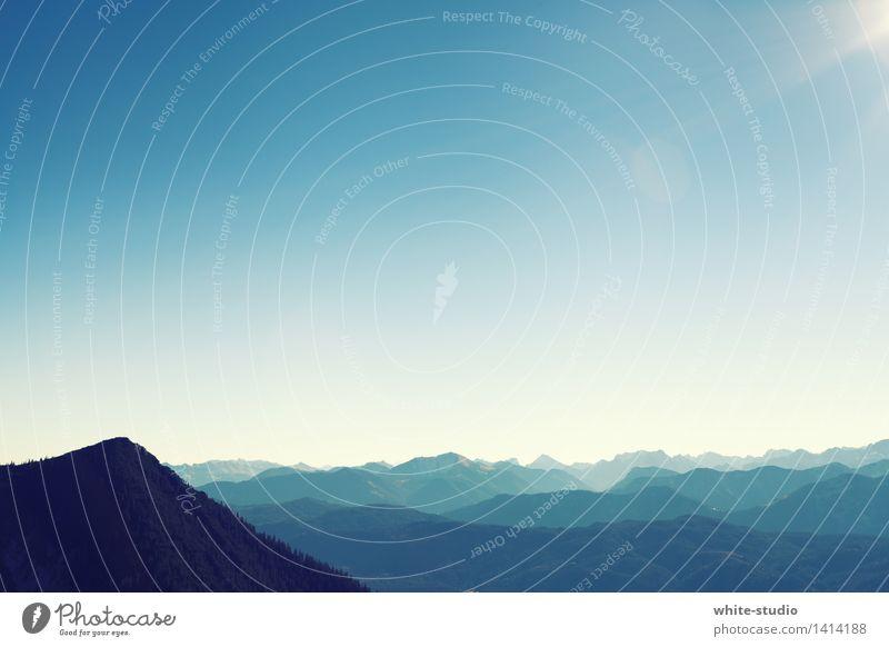 Sky Blue Far-off places Mountain Hiking Alps Plain Mountain range