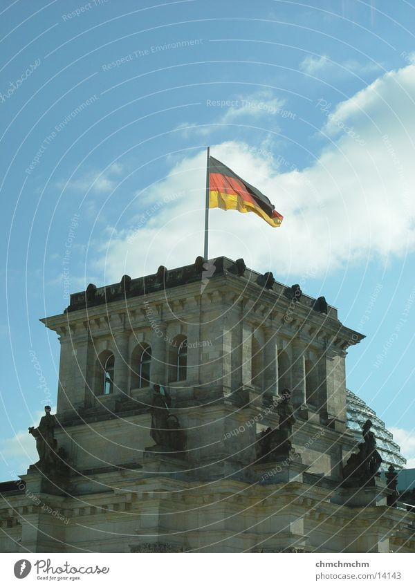 Berlin Architecture Flag Tower Capital city Reichstag Government
