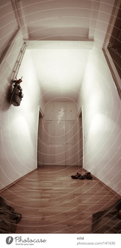Human being White Relaxation Wall (building) Footwear Bright Room Flat (apartment) Large Empty Clean Fantastic Mirror Painting (action, work) Hallway Escape