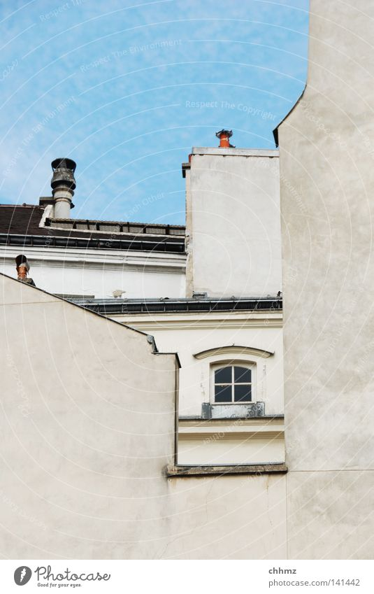 Sky Clouds Window Facade Roof Paris Historic Chimney Frame Arch Vista Window arch Eaves Breach Ladder Gable