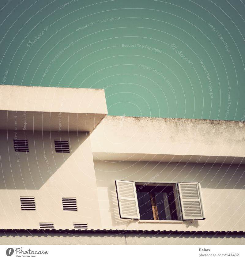 Beautiful Sky Summer Vacation & Travel House (Residential Structure) Colour Wall (building) Window Gray Building Dirty Flat (apartment) Concrete Facade Modern