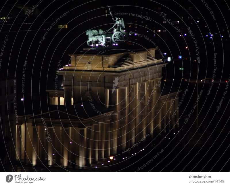 brandenburger_gate Brandenburg Gate Night Dark Historic Sky Berlin