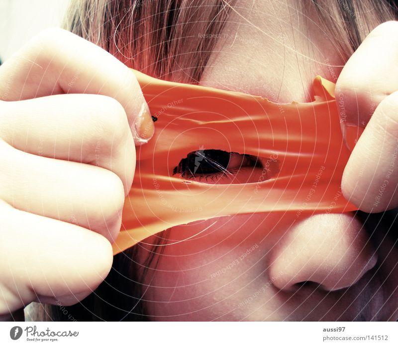 Child Girl Joy Eyes Balloon Mask Hide Dress up Pupil Play instinct
