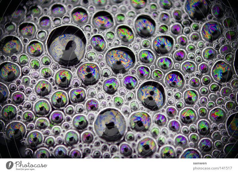 molecular compound Air bubble Blow Bubble Soap bubble Molecule Molecular Atoms Water Foam Dye Colour Multicoloured Reflection Sun Beautiful weather