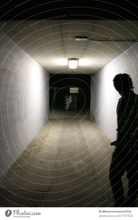 Human being Man Dark Fear Concrete Anger Tunnel Panic Aggravation Guilty