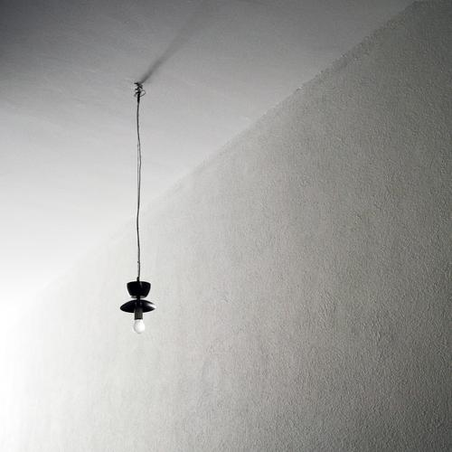 Loneliness Lighting Interior design Lamp Bright Energy industry Cable Long Hang Electric bulb Old building Minimalistic