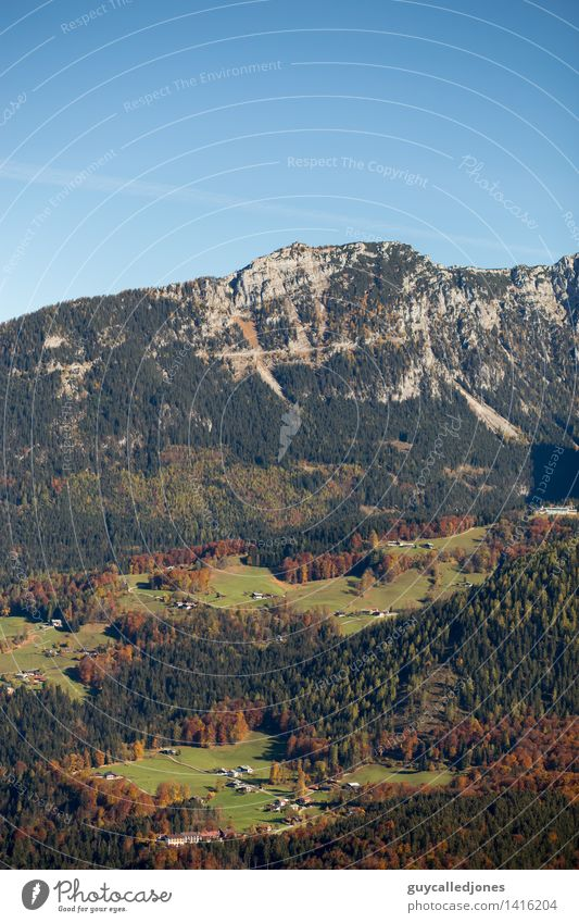 Eagle's Nest Landscape Autumn Beautiful weather Rock Alps Mountain Peak Snowcapped peak Berchtesgaden Berchtesgaden Alpes Tourist Attraction Adventure Discover