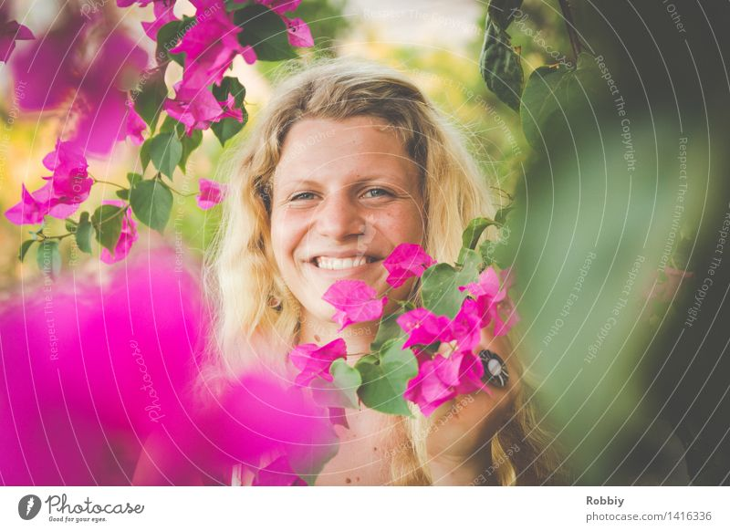 Magenta suits everyone. Vacation & Travel Tourism Summer Summer vacation Feminine Young woman Youth (Young adults) 18 - 30 years Adults Plant Spring Tree