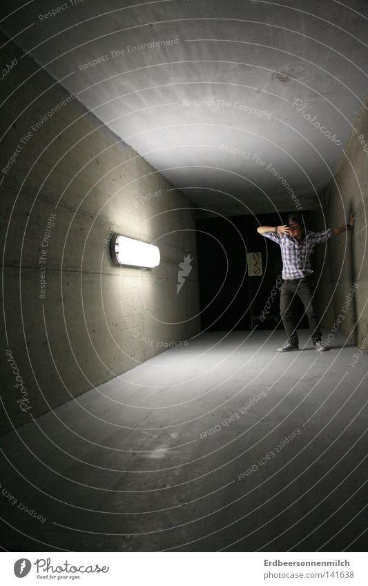 Man Black Dark Gray Fear Art Culture Tunnel Shirt Panic Hatred Dazzle