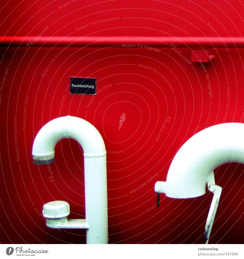 pipe dream Red Logo Watercraft Ventilation Halfpipe 2 Industry Signage Harbour Handrail white ship boat two room ventilation open